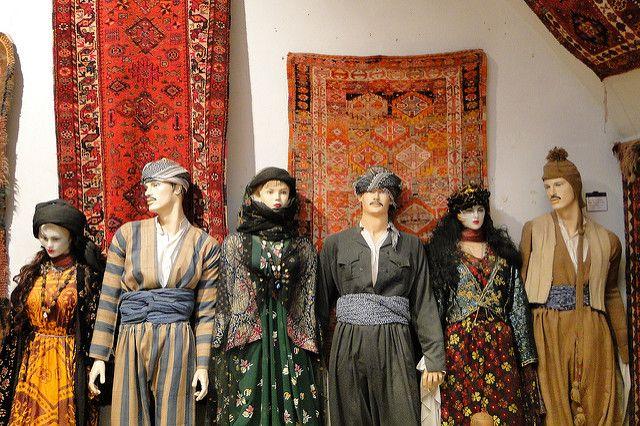Kurdish Costumes on Display, Kurdish Textile Museum of Erbil. Photo by Adam Jones
