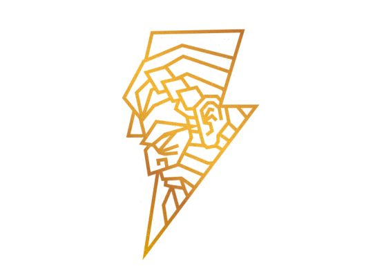 Zeus tattoo idea... But change it so his face is more detailed and less geometric... More realism style