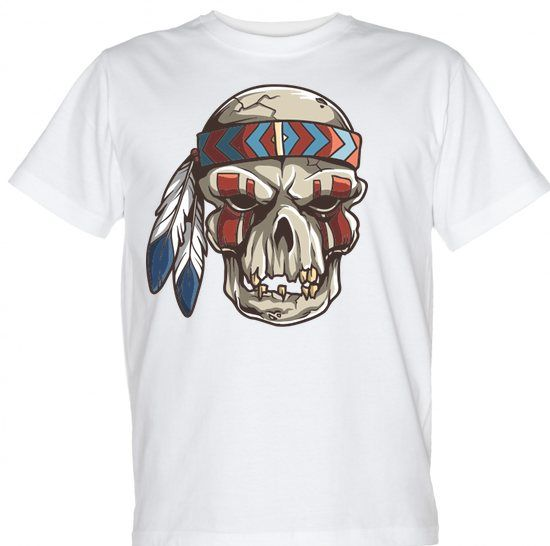 Koszulki z czaszkami: Aztek Skull t-shirt: Aztec