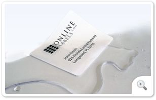 White Weatherproof Polyester Laser Labels (LP) for water bottles