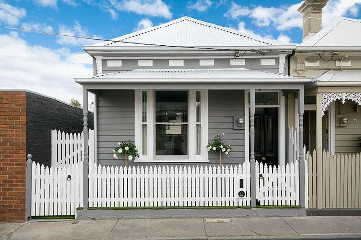 Grey and white weatherboard inspiration.