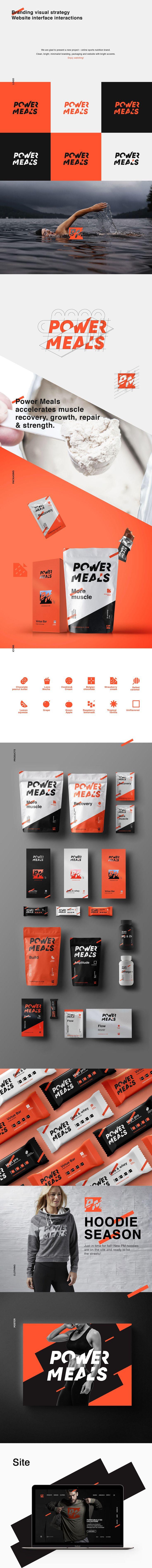 """Consulta este proyecto @Behance: """"Power Meals"""" https://www.behance.net/gallery/43196329/Power-Meals"""