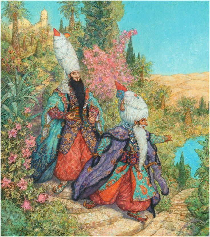 Wilhelm Hauff. Caliph Stork. Illustrator Anton Lomaev.