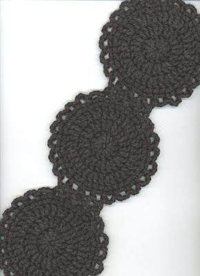 Round in circles scarf but would make a great belt.