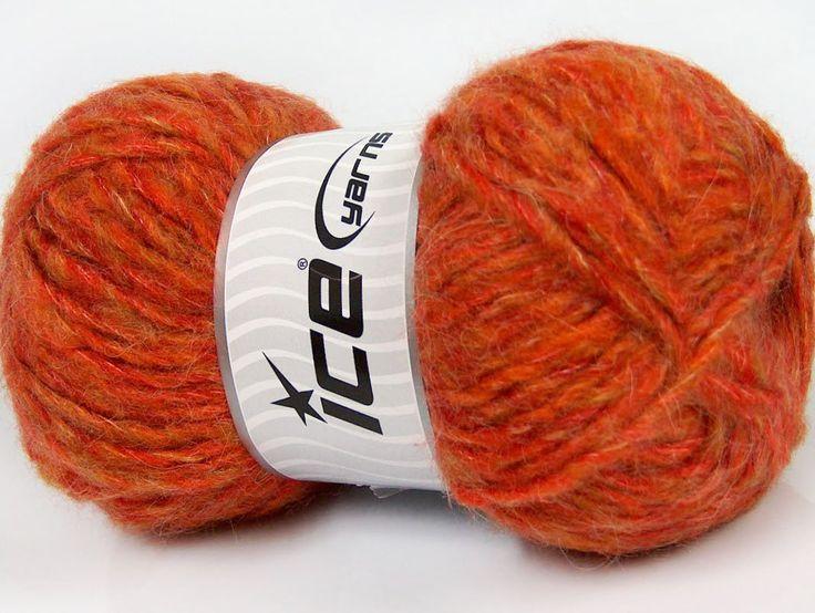 Sonbahar - Kış İplikleri Kışlık Yün Tiftik hantal Turuncu Tonları  İçerik 43% Akrilik 27% Polyamid 15% Tiftik 15% Yün Orange Shades Brand ICE fnt2-41163