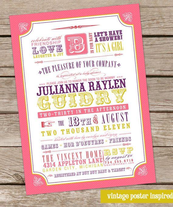 Typographical wedding invite