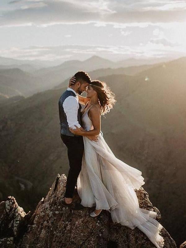 20 verträumte Hochzeitsfotos aus Berghochzeiten