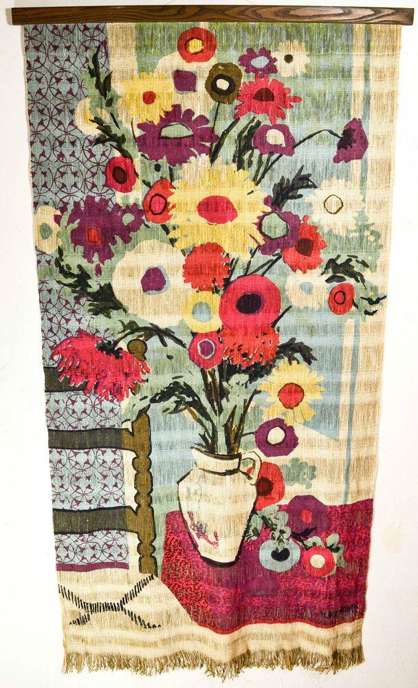 Large Vintage Mid Century Robert Bushong Tapestry Wall Hanging 1960u0027s 6ft X  3ft. Tapisserie WandgehängeWandbehängeMitte Des Jahrhundert Moderne ...