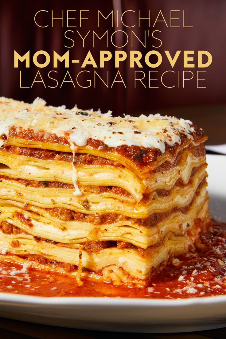The Way to Her Heart: Michael Symon's Mom-Approved Lasagna Recipe from InStyle.com