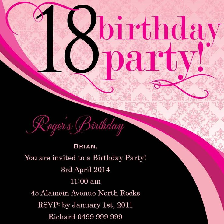 33 best 18th Birthday Invitations & Inspirations images on Pinterest ...