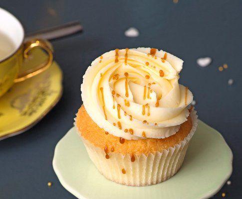 Cupcakes mit gesalzenem Caramel