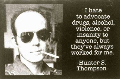 A biography of hunter thompson and his inspiration for creating fear and loathing in las vegas