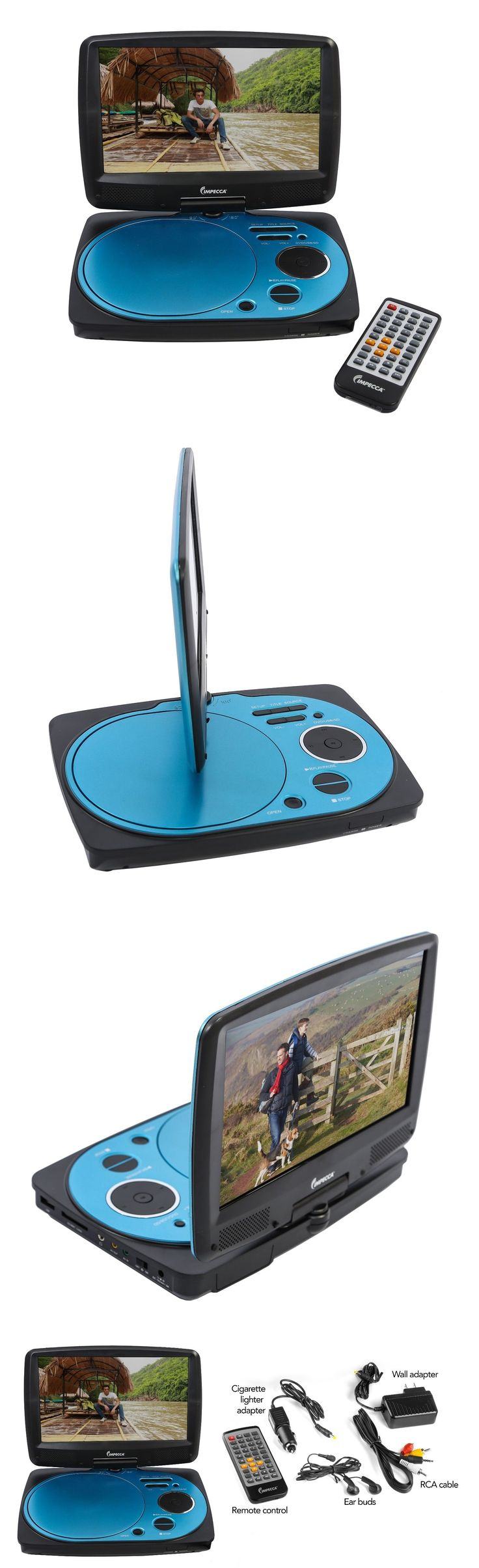 DVD and Blu-ray Players: Impecca 9 Inch Swivel Portable Dvd Player, Blue BUY IT NOW ONLY: $59.99