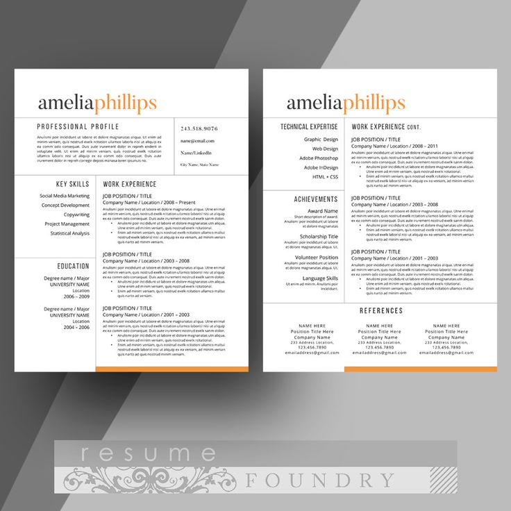 Modern Resume Templates Word Glamorous 237 Best Modern Resume Templates Images On Pinterest  Resume Tips