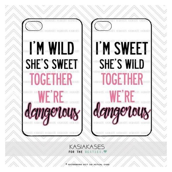 Sweet and Wild bff Case Dangerous Together Best Friends Cute Trendy... ❤ liked on Polyvore featuring accessories, tech accessories and samsung