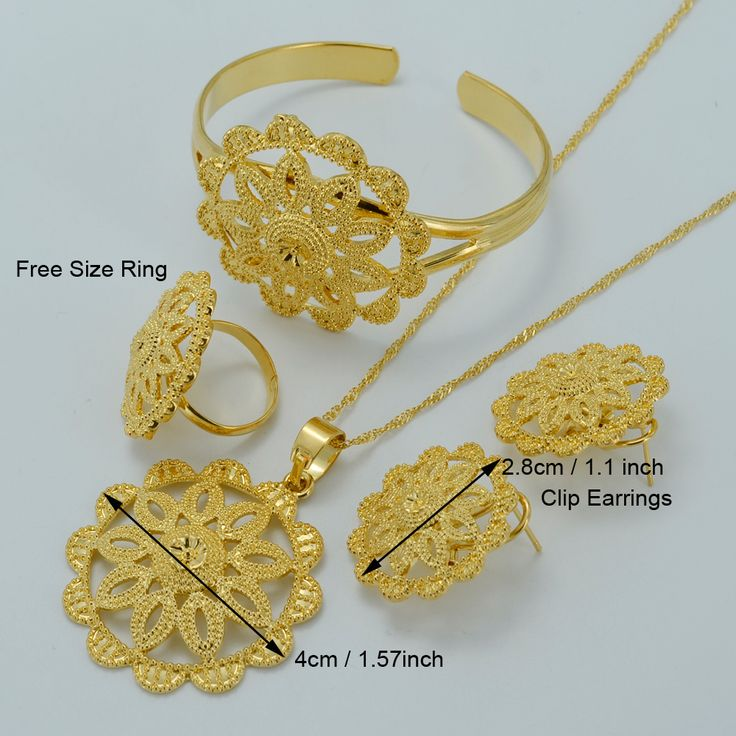 NEW Ethiopian Wedding Jewelry sets - Gold Plated Habesha Set Ethiopia Bridal Jewellery Eritrea Nation Style Accessory #020006