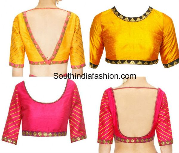 simple blouse designs with borders simple blouse designs