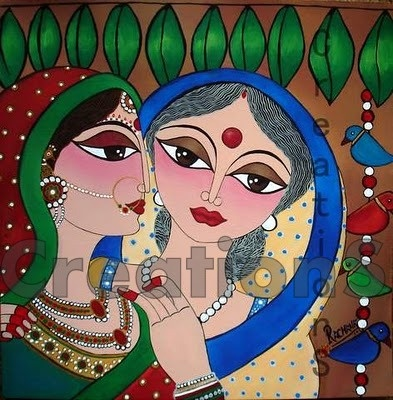 CreationS - The Essene of Arts: Kanya Viday - An Emotional Farewell... Love this painting...search on etsy to buy this.