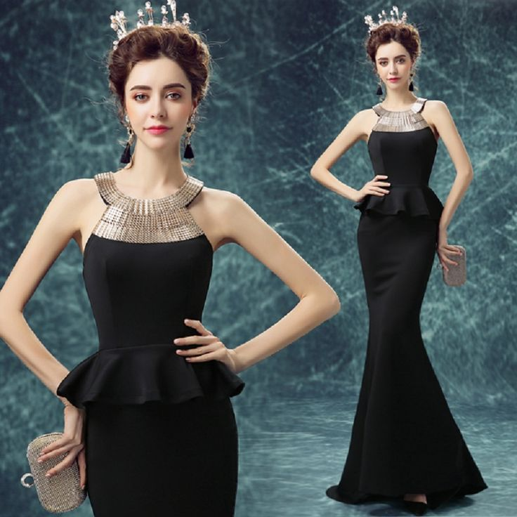 Black Halter Sexy long Evening dress Fashion $93.39   => Save up to 60% and Free Shipping => Order Now! #fashion #woman #shop #diy  http://www.weddress.net/product/black-halter-sexy-long-evening-dress-2016-fashion-sleeveless-longue-robe-de-soiree-mermaid-fomal-ruffles-party-dresses