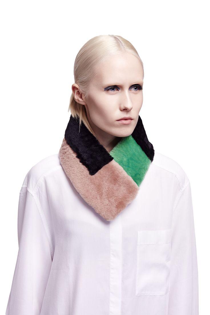 ONAR Tetris collar in black, green & almond