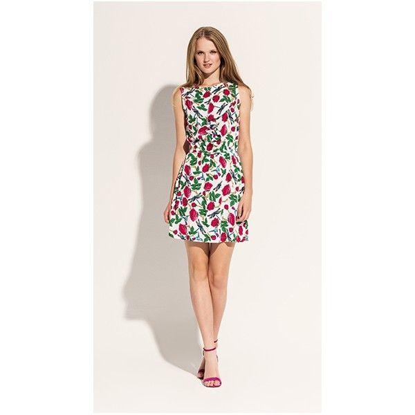 Vestido Corto Sin Mangas Y Estampado Floral En Tonos Rosas Y Verdes Sobre Fondo Blanco Detalle De Volant Atuendos De Moda Para Mujer Vestidos Vestidos Cortos