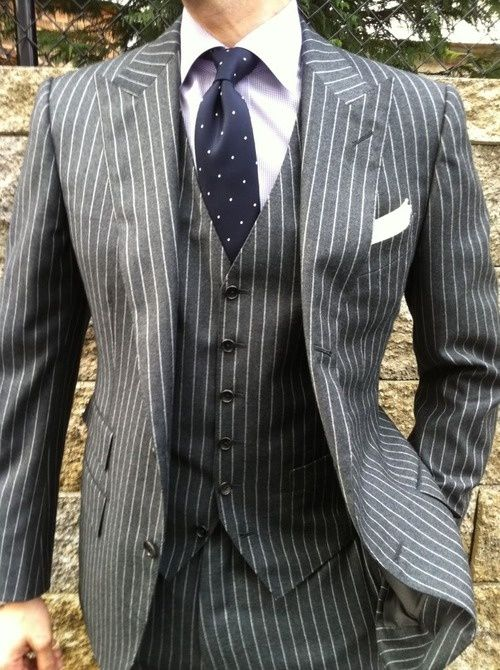 Tom Ford three piece Kiton shirt Drakes tie