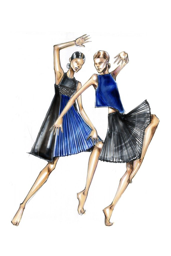 "A sketch of Angel Sanchez's creation for the Ballet Hispanico's annual Junior Society benefit, ""Dance Into Fashion."" [Courtesy Photo]"