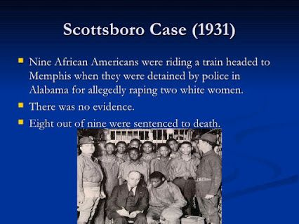 Rosa Parks and her husband were some of the African Americans who worked to publicize the case of the Scottsboro Boys!