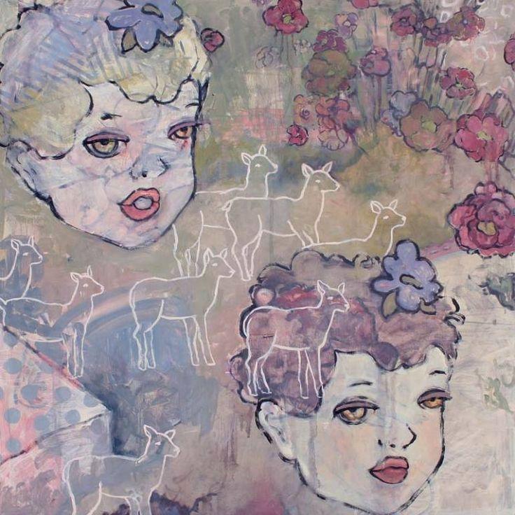 "Saatchi Art Artist Elizabeth Bruno; Painting, ""Double Doe Eyed"" #art"