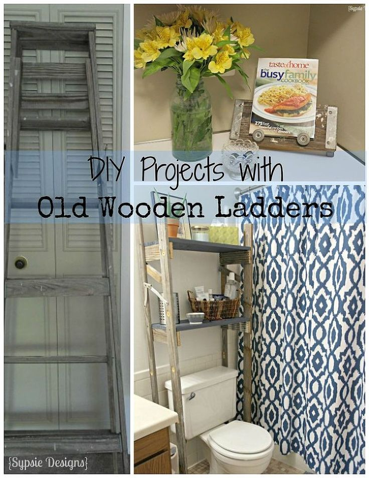 Two Upcycled Projects From One Old Ladder Extra Storage