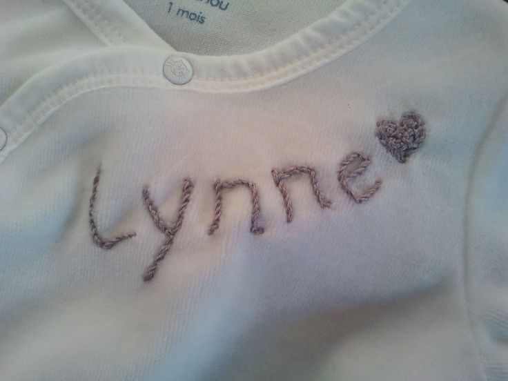 My baby's first pyjamas embroided