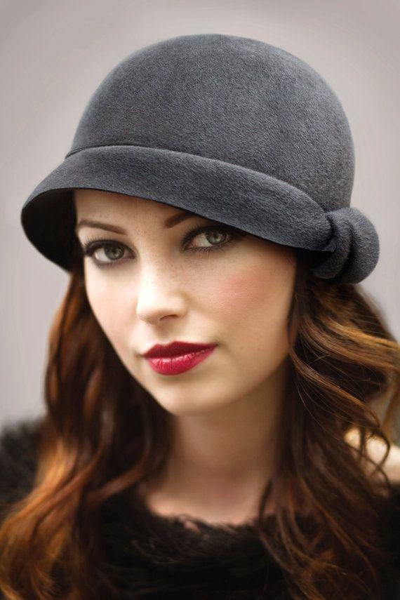 The Twist Cloche Hat Felt Hat Classic Hat by MaggieMowbrayHats