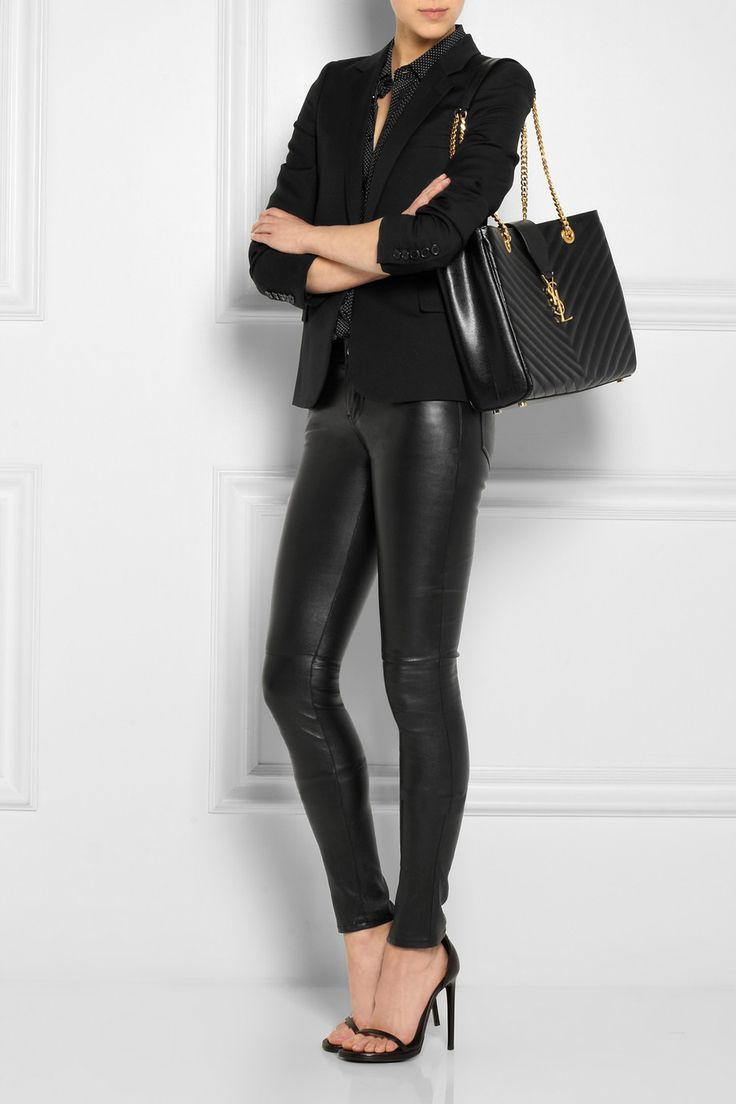 fake ysl handbags - Saint Laurent | Monogramme quilted leather shoulder bag | NET-A ...