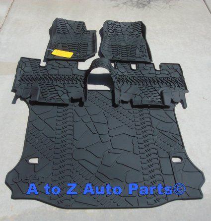 NEW 2014 Jeep Wrangler JK 4-DOOR Slush Style Floor Mats & Cargo Mat COMBO SET,OE