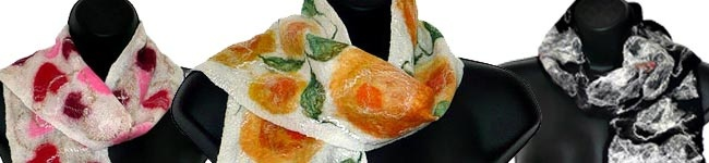 felting with wool and silk!