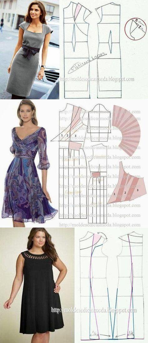 Los vestidos estupendos – el patrón para todos los gustos