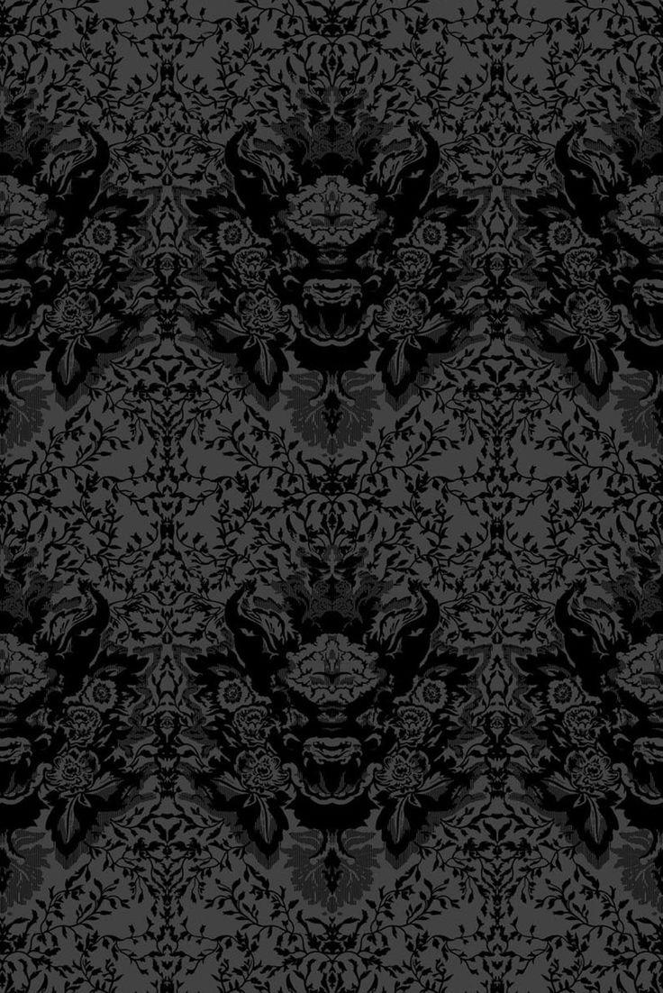 best  flock wallpaper ideas on pinterest  pretty patterns  - timorous beasties wallcoverings  devil damask flock wallpaper