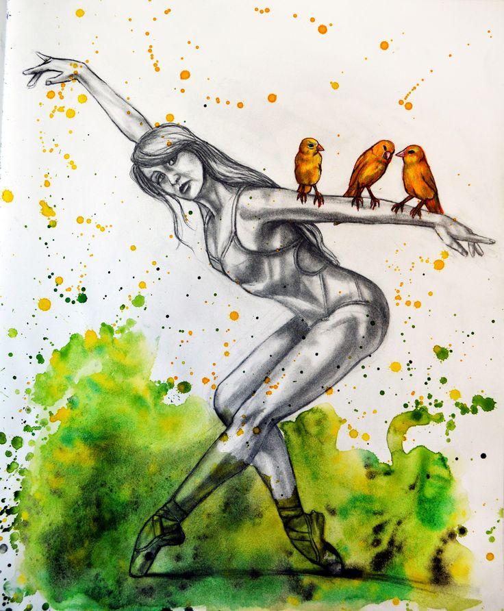 ballet pencil drawing