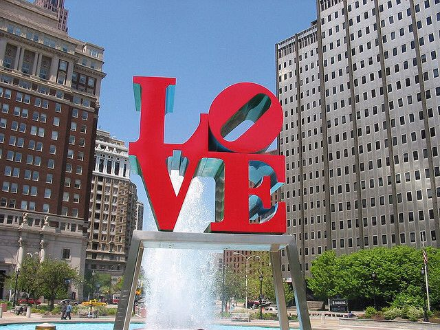 LOVE, Philly, USA.