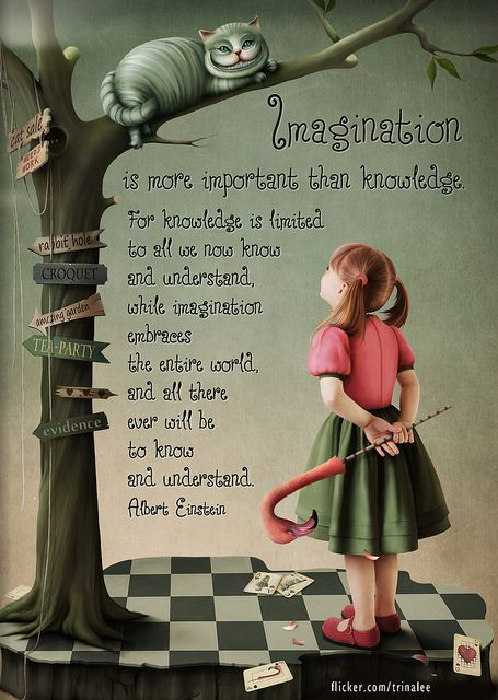 Imagination is more important than knowledge, for knowledge is limited to all we now know and understand, while imagination embraces the entire world and all there ever will be to know and understand. ~Albert Einstein
