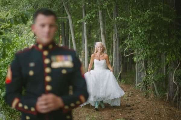 """""""Before the wedding"""" Groom can't see bride."""