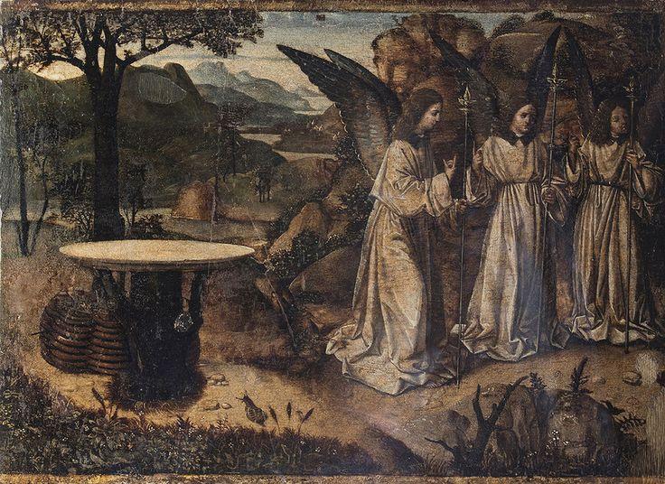Antonello_da_Messina. Явление трех ангелов Аврааму, ок. 1460-1465.