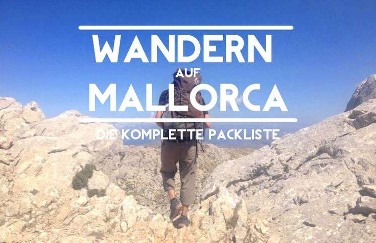 Packliste Wandern Mallorca