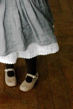 vintage: Children Linens, Kids Shoes, Kids Fashion, Little Girls Dresses, Girls Linens Dresses, Black Tights, Kids Clothing, Children Shoes, Grey Dresses