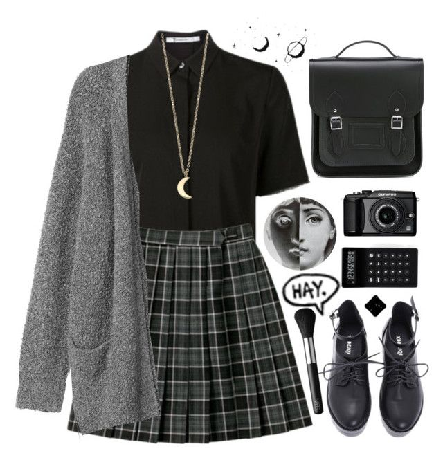 """/cambridge/"" by foolishfox ❤ liked on Polyvore featuring Fornasetti, Alexander Wang, The Cambridge Satchel Company, Monki, Minor Obsessions, LEXON, NARS Cosmetics, Olympus and BackToSchool"