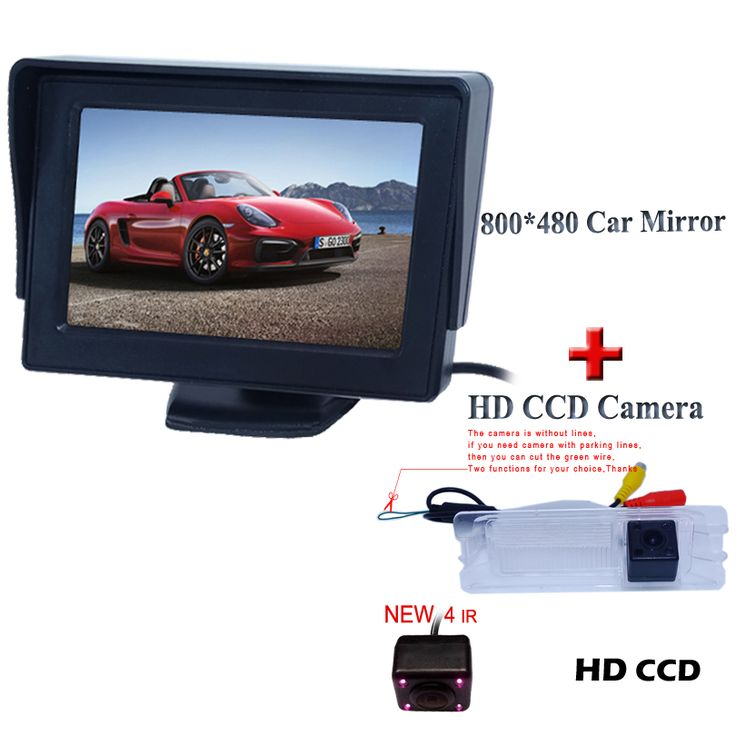 """hd ccd car parking camera 170 angle+shckproof  car  monitor 4.3"""" for Nissan March for Renault Logan for Renault Sandero"""