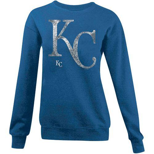 Kansas City Royals Women's Crewneck Sweatshirt by 5th & Ocean - MLB.com Shop