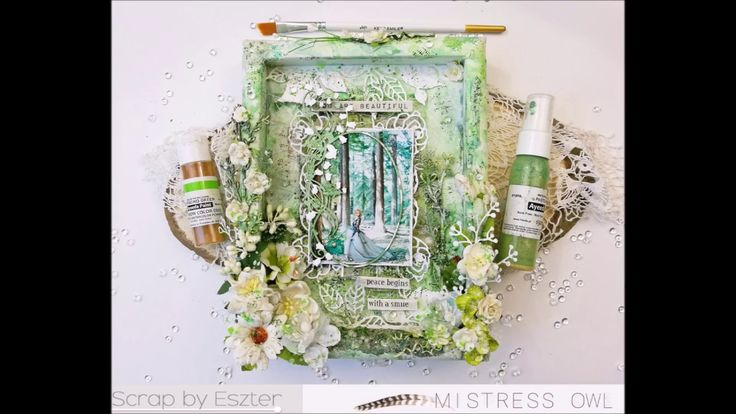Mixed Media Art - #5 Tutorial video - Picture frame