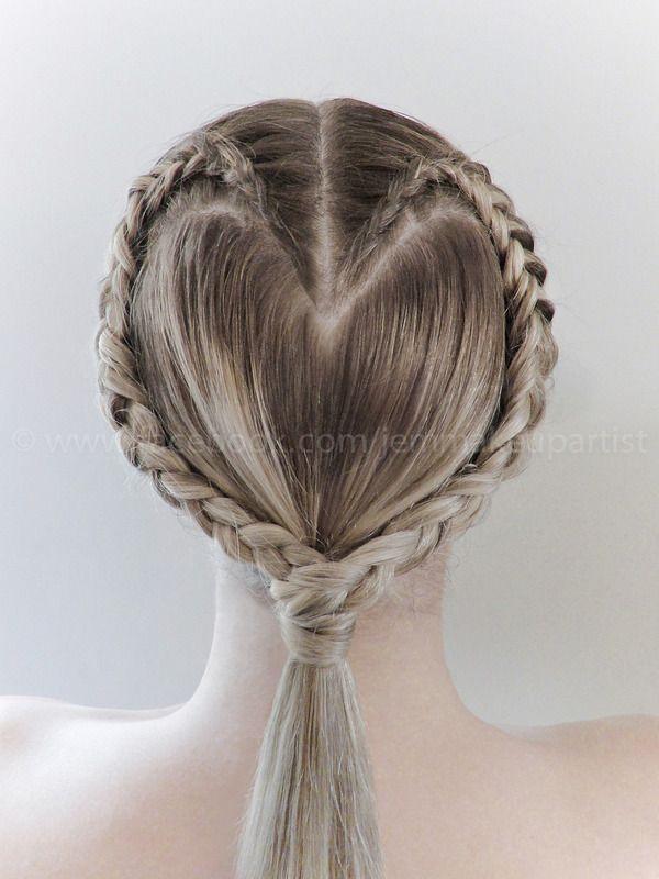 Heart hair: Braids Hairstyles, Heart Braids, Beautiful Braids, Hair Braids, Heart Hair, Hairstyles 2014, Hair Style, Hairstyles Ideas, Adorable Heart