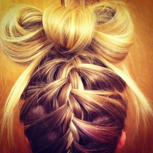 Banana, I should do this the next time you make me do your hair at work! :)